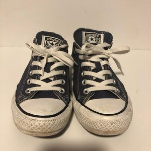 Blue Low Top Converse All Stars